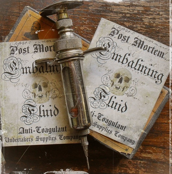 For the Undertaker  - Embalming Fluid Stickers