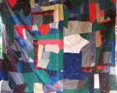 Amazing Crazy Strip Vintage Quilt - Gorgeous Fabrics