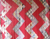 Reserved For Customer - Reserved for Primitive Streak O' Lightening Vintage Antique Quilt - Beautifully Bold