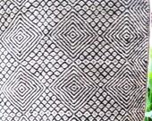Primitive Geometric Evil Eye Hand Woven Wool Vintage Tribal Spread Rug - Gorgeous
