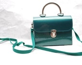 Teal Box 50s Purse