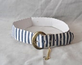 Vintage Fabric Nautical BELT size 14, fabric