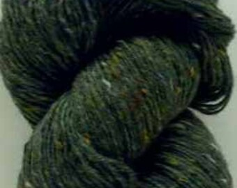Aran Tweed Yarn (Forest Green) Irish Donegal Kilcarra Wool 7oz/200g