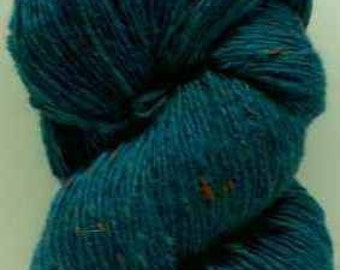 Aran Tweed Yarn (Petrol Blue) Irish Donegal Kilcarra Wool 7oz/200g