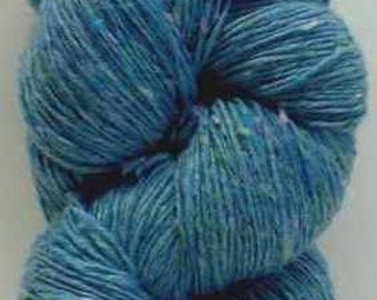 Aran Tweed Yarn (Light Blue) Irish Donegal Kilcarra Wool 7ozs/200g