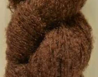 Luxury Mohair Bouclé (Chestnut) Knitting Yarn 7oz/200g