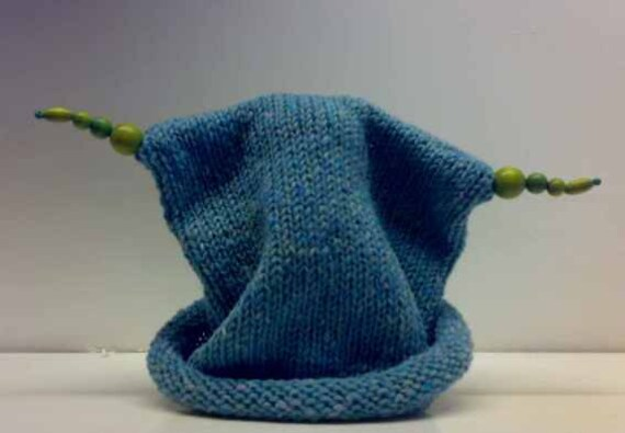 Knitted Bead Hat from Ireland 100% Aran Tweed Wool