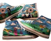 All Over Adventure Time Converse