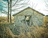 Rustic Stone House Rural Abandoned Wall Art - Photograph
