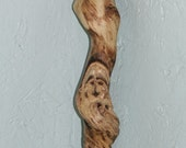 Handmade Ash Twist Walking Stick with Wood Spirit carving