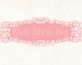 Professional Premade Etsy Shop Set - Ornate Pink (Banner, avatar, placeholders)