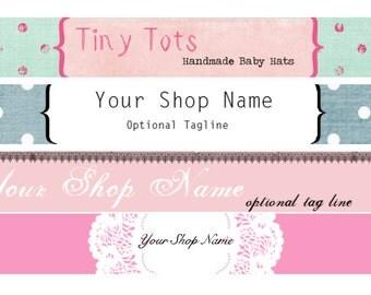 Choose Your Design - Etsy Shop Banner Set