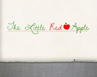 Premade Logo Design and Watermark - The Little Red Apple (No.208)