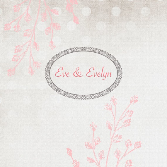 Professional Etsy Shop Set  - Pink Florals- (Banner, avatar, placeholders)