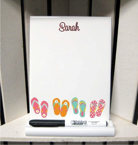 flip flops dry erase board with marker and stand by thetrendytile. Black Bedroom Furniture Sets. Home Design Ideas