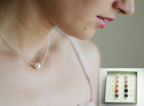 Pearl Solitaire Necklaces & Earrings - Reserved for Stephanie -