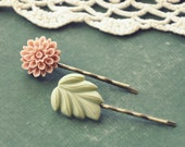 mum and leaf hair pin set.