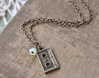SALE - little mixtape necklace.