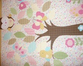 Baby or Toddler Foldable Travel Quilt  with Owl in a Tree (Diaper Kit in a Quilt)personalized