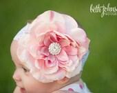 Baby Girl, Baby Girl Headband, Baby Headband, Baby Bows, Flower Girl,Blush Headband.Baby Headband,Lace Headband, Baby Bow, Baby Headbands