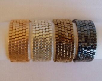Bronze Metallic Miyuki Glass Infinity Bracelet