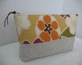 Linen Clutch with Summer Cotton