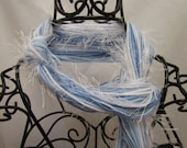Fringe Scarf- Carolina Blue & White- UNC Tarheels