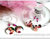 Personalized Wedding Wine Charms - Gift or Favor (Set of FOUR)