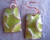 Chartreuse Hammered Earrings