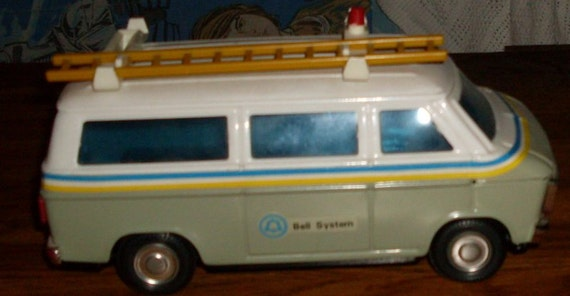 Vintage Bell Systems Van Bank Die Cast Pressed By Lurchdeeann