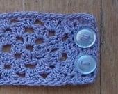 Crochet Lilac Purple Bracelet
