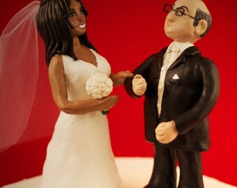Custom Wedding Cake Toppers - Personalized To Your Likeness - Traditional