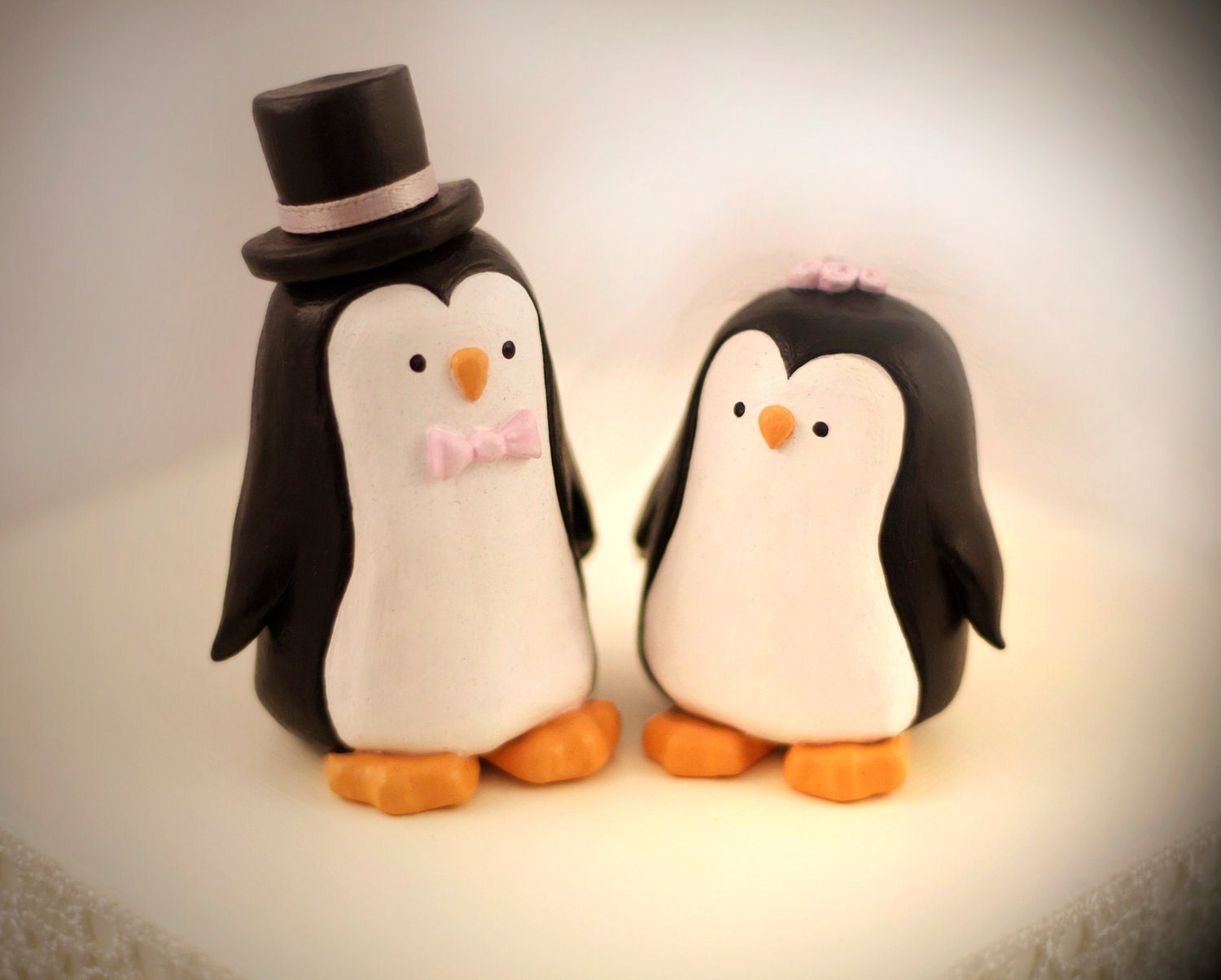 penguin cake toppers wedding custom penguin wedding cake topper personalized by 6441