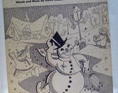 "Vintage Sheet Music ""Frosty the Snowman"" and ""White Christmas"" 1940s-1950s"