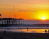 Sunset on Pier - Fine Art Photograph 8x12