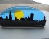 3D Chicago Skyline Cityscape