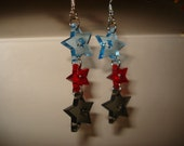 Star Chain Acrylic Earrings