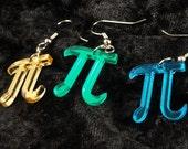 Pi Symbol Acrylic Earrings