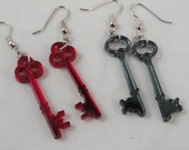 Skeleton Key Acrylic Earrings