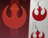 Star Wars Rebel Alliance inspired Earrings or Necklace
