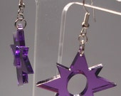 Star Sapphire - Violet Lantern Inspired Earrings