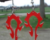 Horde Logo Inspired Acrylic Earrings