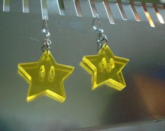 Star Power Acrylic Earrings