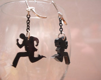 Running Man Acrylic Earrings