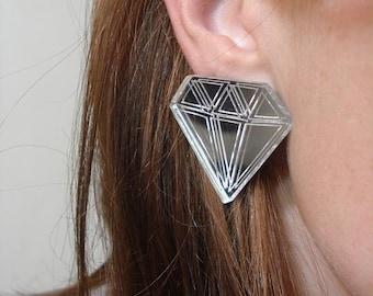 70 Carat Diamond Earrings
