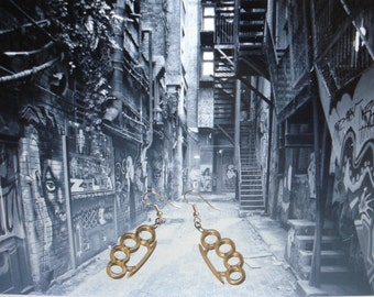 Brass Knuckle Acrylic Earrings