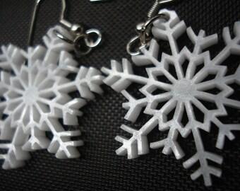Snowflake Acrylic Earrings