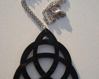 Triquetra Circle Acrylic Necklace