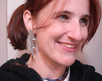 "SALE!!  2.5"" Lightning Bolt Earrings - LIMITED QUANTITIES and colors"