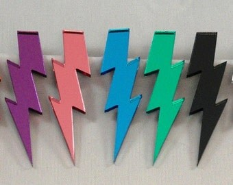 "4"" Glam Style Lightning Bolt Earrings"